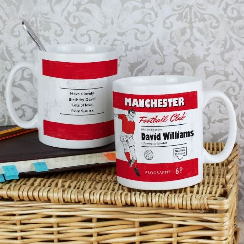 Vintage Red and White Football Supporter's Mug